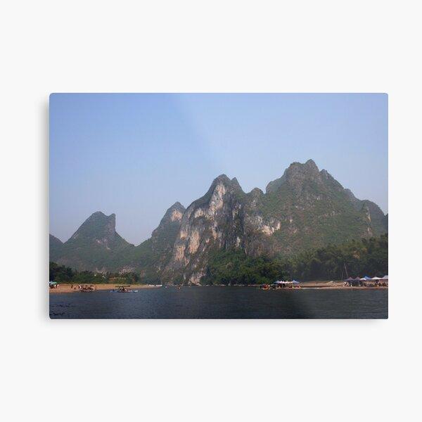 Karst mountains of Yangshuo Metal Print