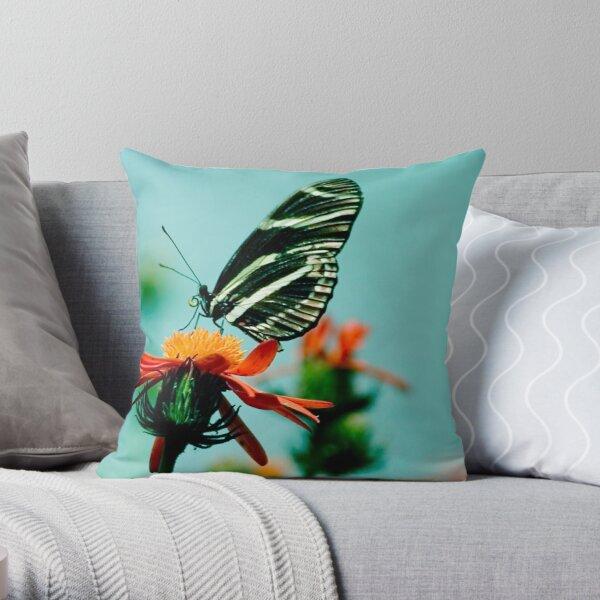 Butterfly Lick Throw Pillow