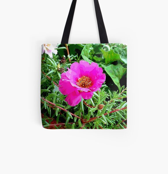 Moss Rose All Over Print Tote Bag