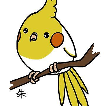 Lutino Cockatiel by Shukura