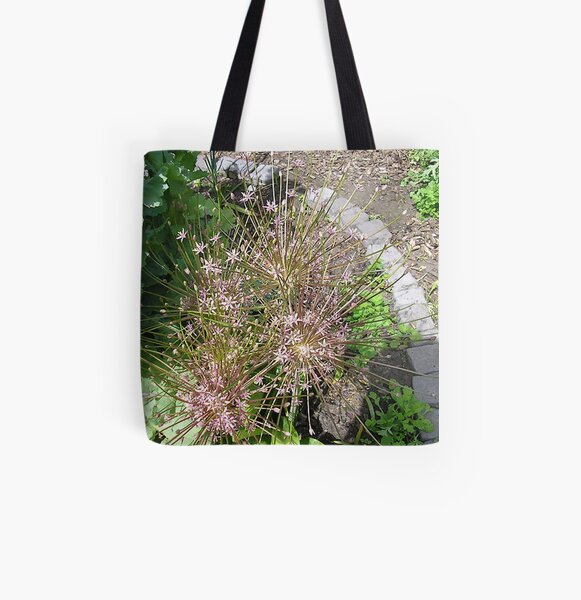 Spikey Pink Allium All Over Print Tote Bag
