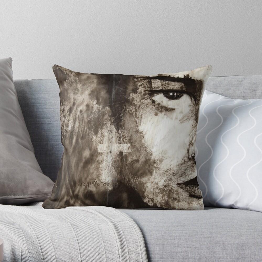 portrait of Simon John Ritchie Throw Pillow