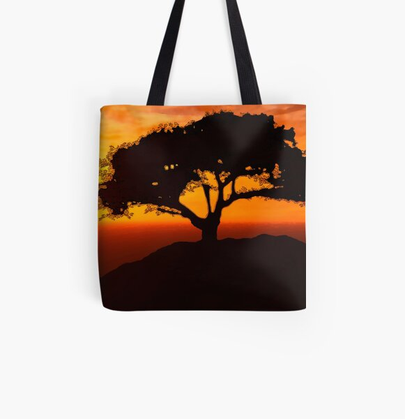 African Savanna All Over Print Tote Bag