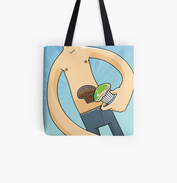 My Stomach has a Cupcake-sized Door All Over Print Tote Bag