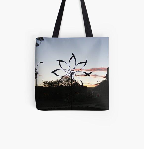 Iron Pinwheel All Over Print Tote Bag