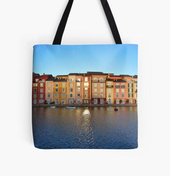 Sunset in Portofino Bay All Over Print Tote Bag