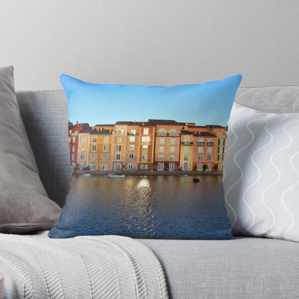 Sunset in Portofino Bay Throw Pillow