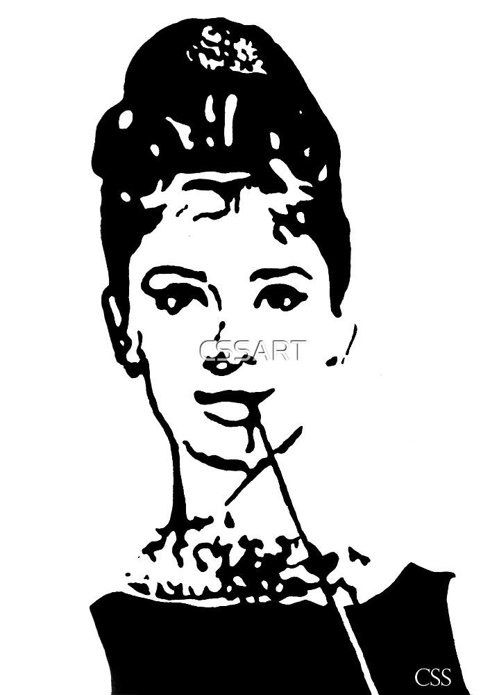 Audrey Hepburn Painting by CSSART