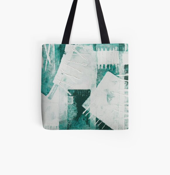 Green Abstraction All Over Print Tote Bag