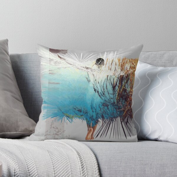 Barwon River Explosion Throw Pillow