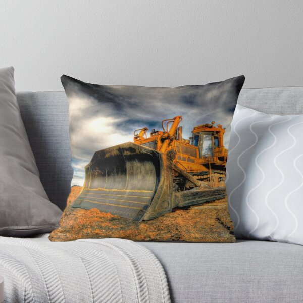 Big Dozer Throw Pillow