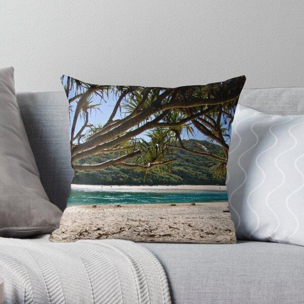 Tallebudgera Beach Throw Pillow