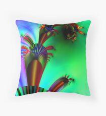 Fractal Cactus Throw Pillow