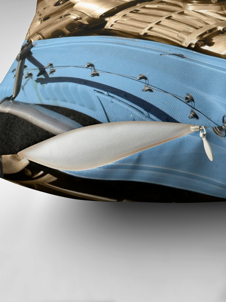 Alternate view of Heart of a Bugatti Throw Pillow