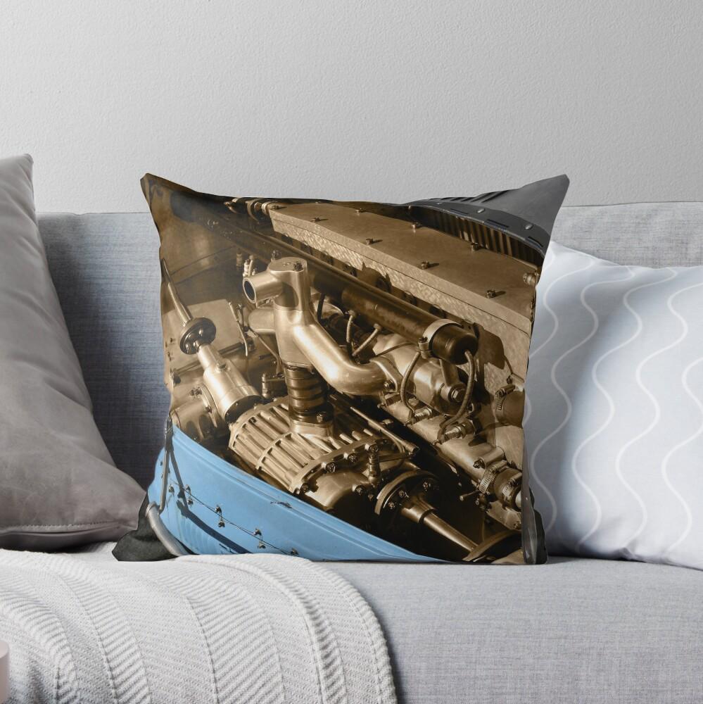 Heart of a Bugatti Throw Pillow