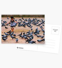 Pigeon Chasing in Durbar Square, Kathmandu Postcards