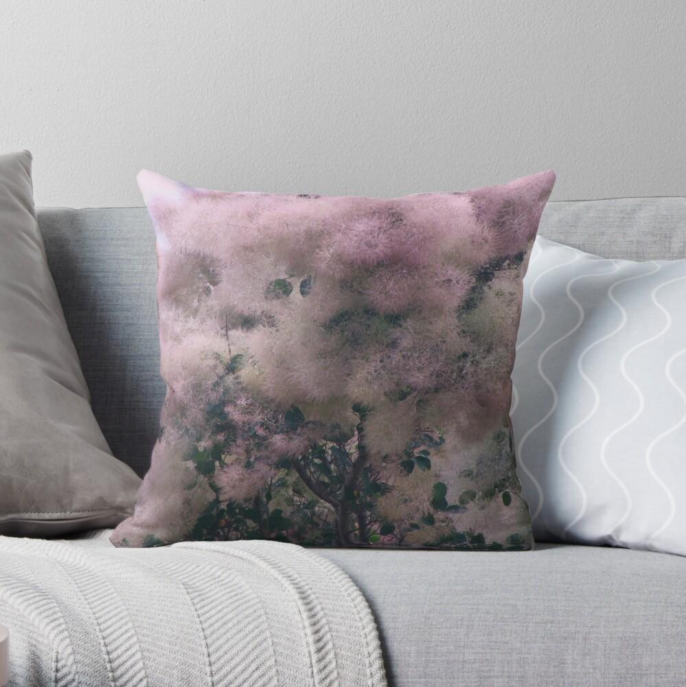 Pink Velvet  Throw Pillow