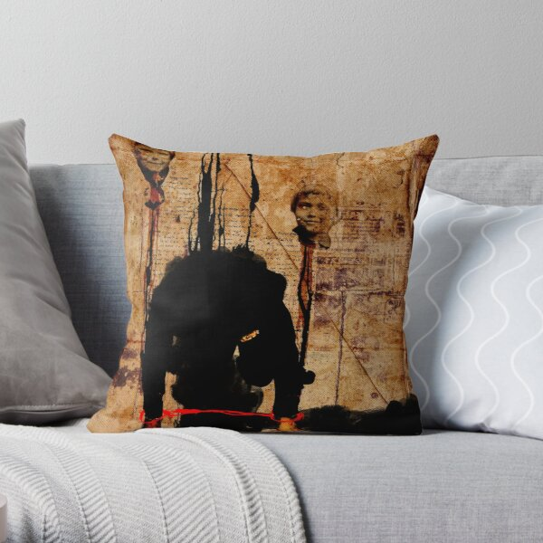 MAN ASKING FOR FORGIVENESS ON A DAY THAT EVERYTHING IS TOO LATE AND WORTHLESS Throw Pillow