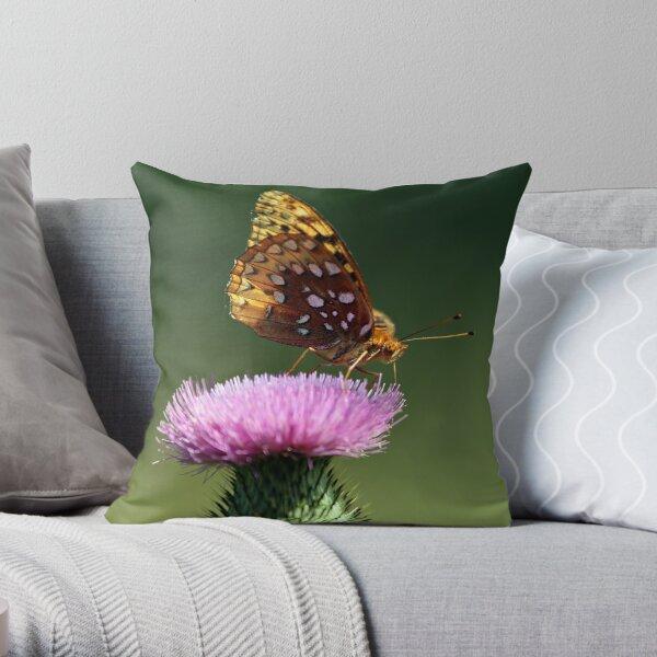 Great Spangled Fritillary Throw Pillow
