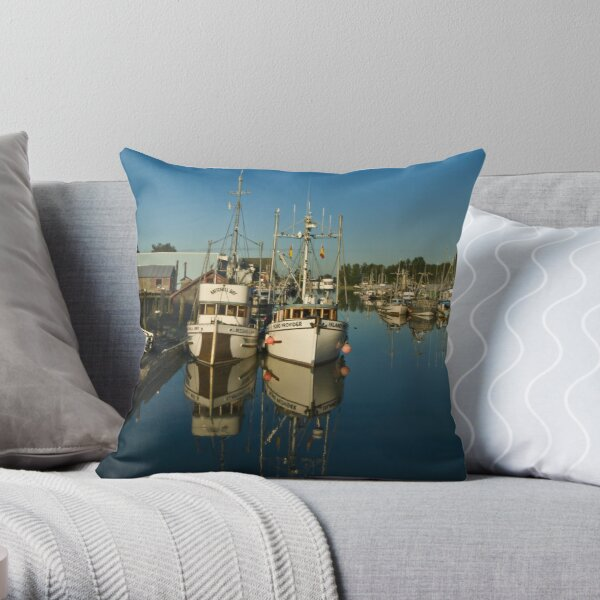 Ladner Harbour Throw Pillow