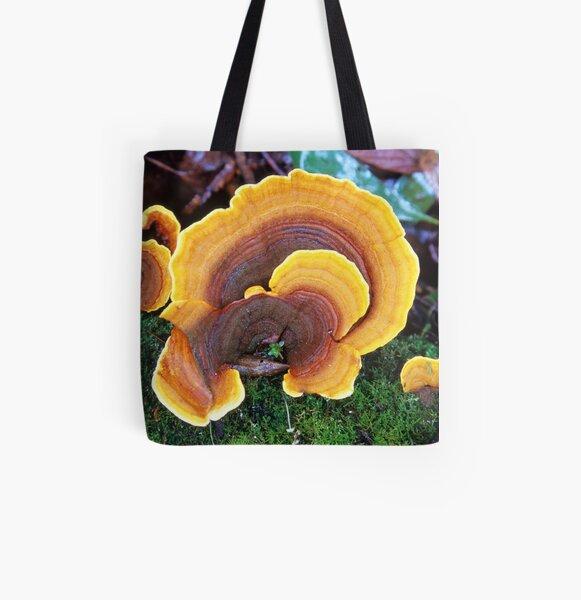 Rainbow Fungus All Over Print Tote Bag