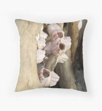 Barnacle Flowers Throw Pillow