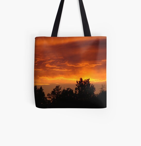 Sky on Fire All Over Print Tote Bag