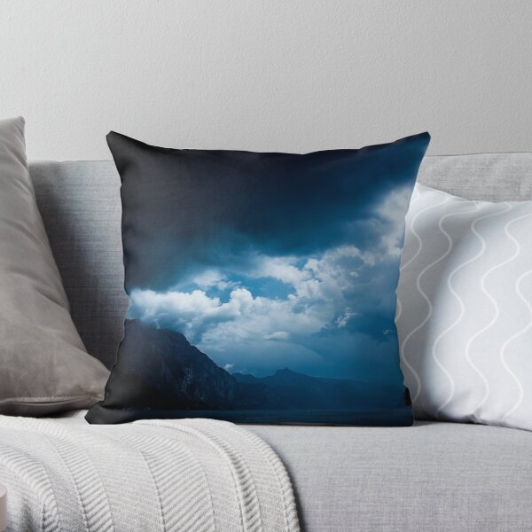 behind the clouds III Throw Pillow