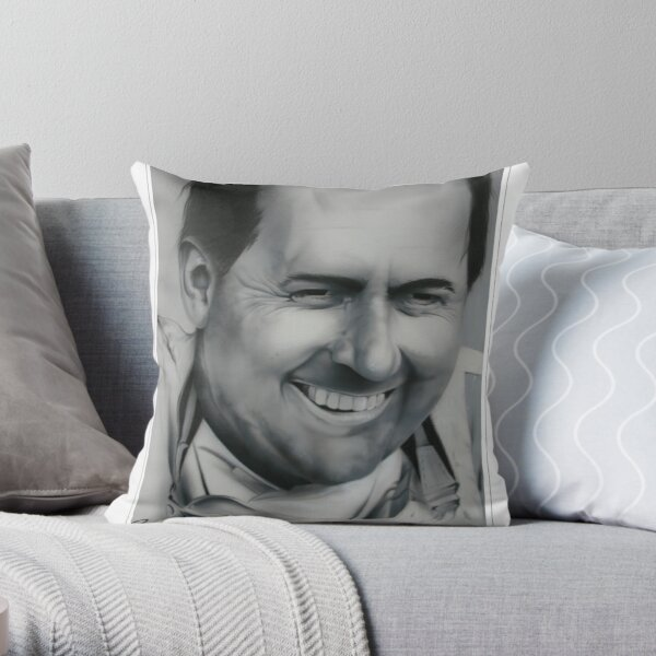 Sir Jack Brabham Throw Pillow
