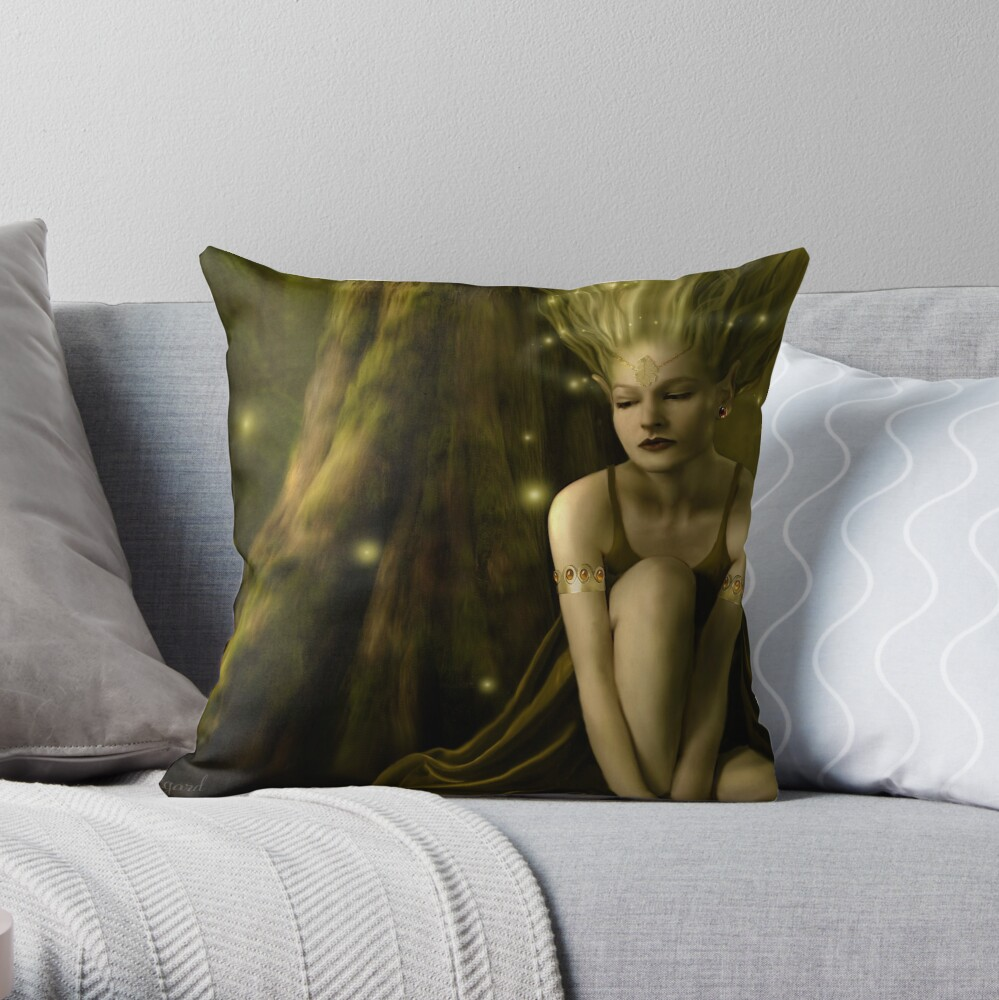 Aelflaed  Throw Pillow