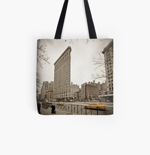 Flat Iron Building All Over Print Tote Bag