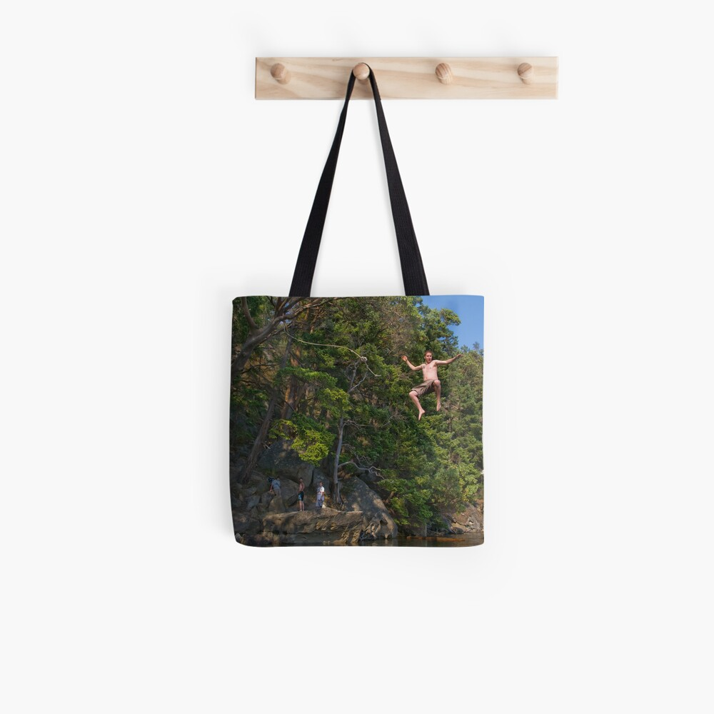 The Rope Swing, Campbell Bay Tote Bag