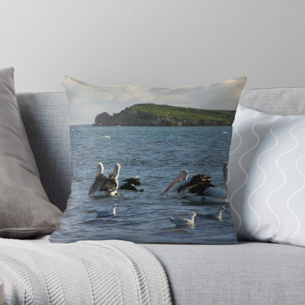 Pelican`s Throw Pillow