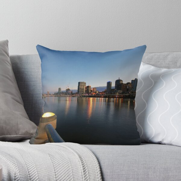 Brisbane At Dawn Throw Pillow