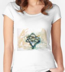 Our entwined hearts Fitted Scoop T-Shirt