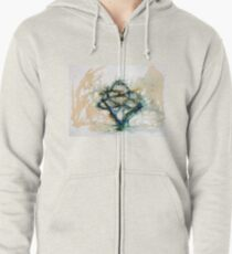 Our entwined hearts Zipped Hoodie