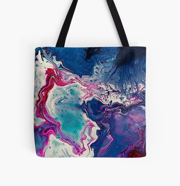 Shimmering Sequence All Over Print Tote Bag