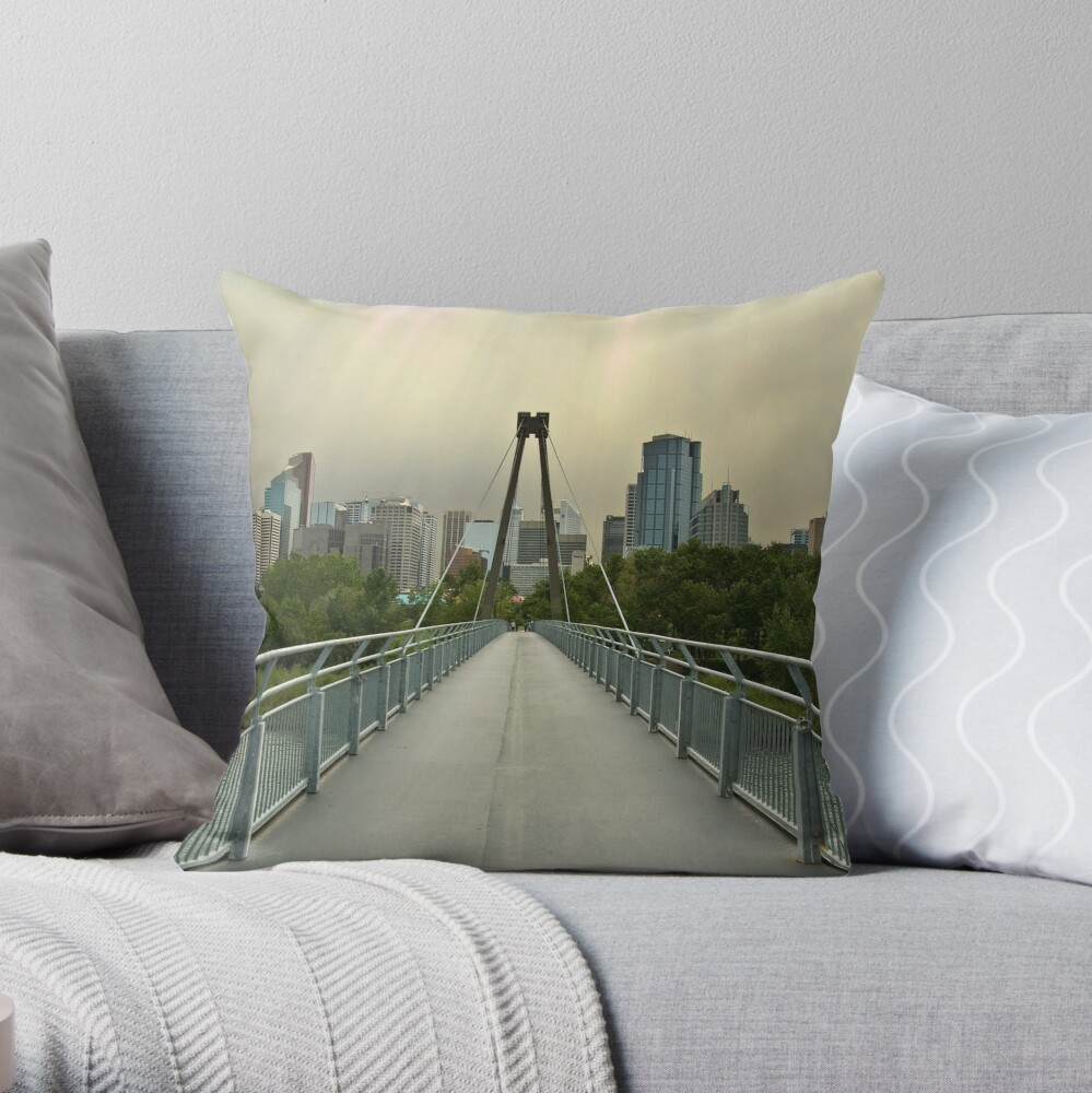 Calgary Skyline Throw Pillow