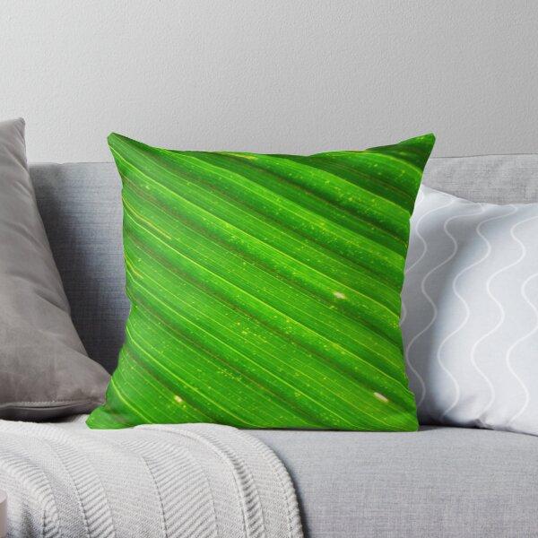 Close up of a palm leaf, Fiji Throw Pillow