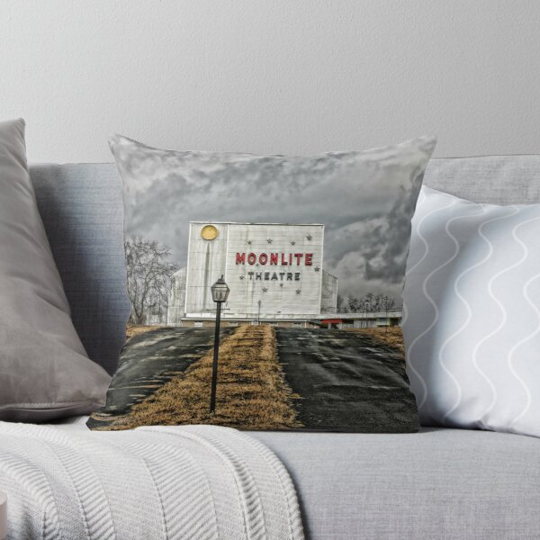 Moonlite Drive-In Throw Pillow