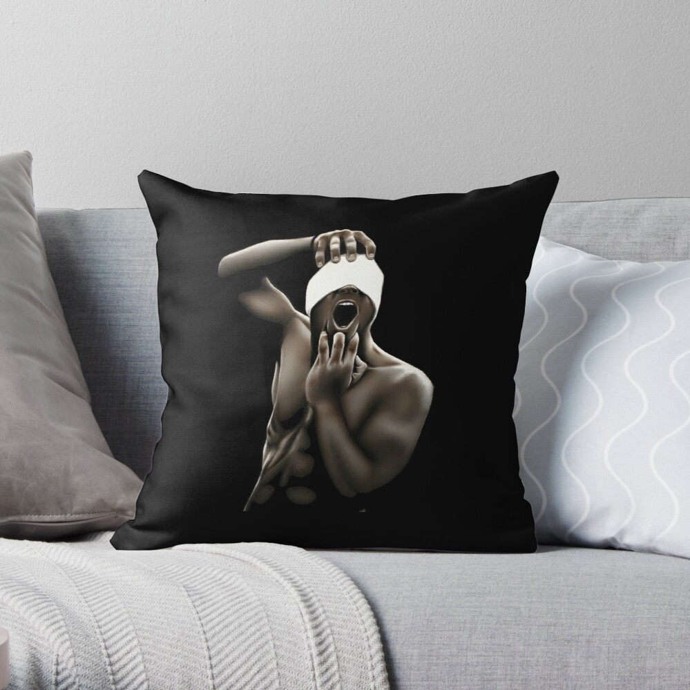 Descended (Color pencil drawing) Throw Pillow