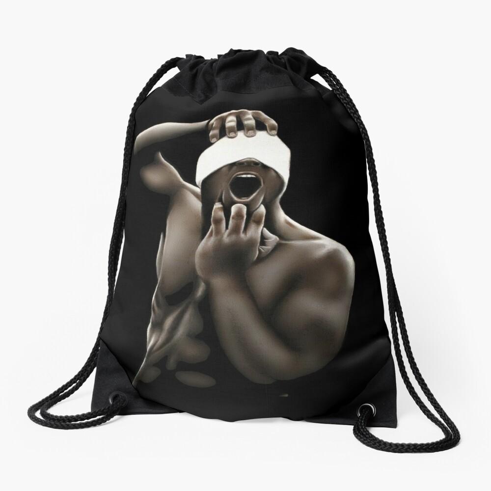 Descended (Color pencil drawing) Drawstring Bag