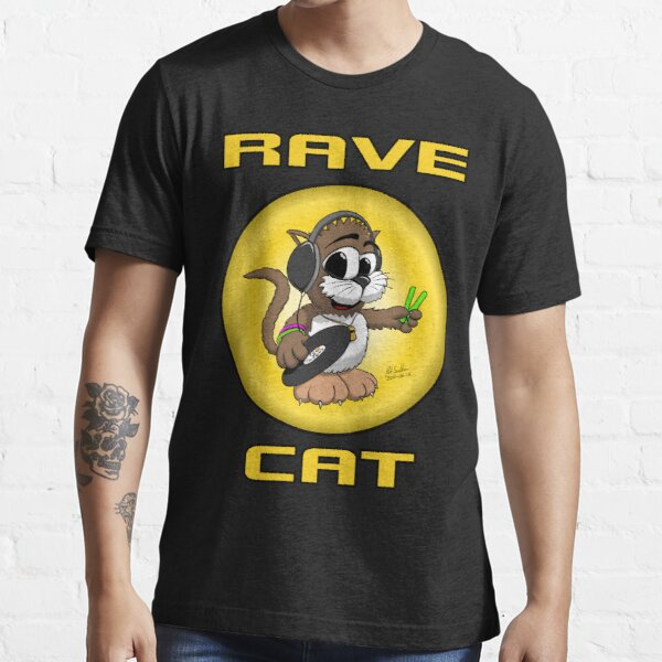 RAVE CAT - The TShirt Essential T-Shirt