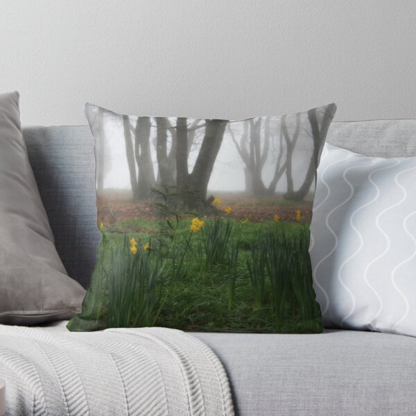 Winter daffodils Throw Pillow