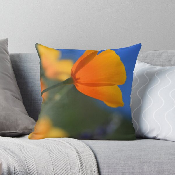 Sun-Kissed Poppy Throw Pillow