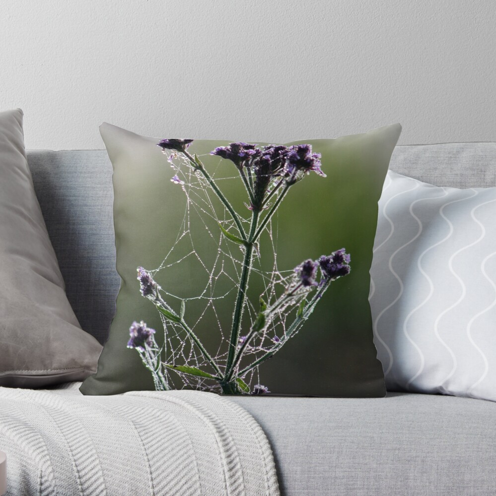 Morning Lace Throw Pillow