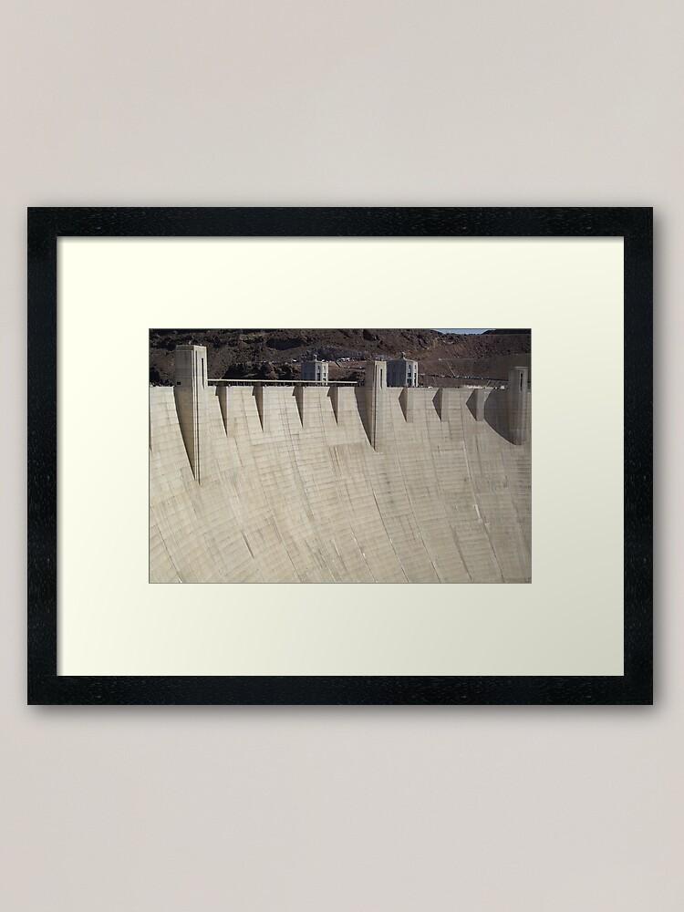 Alternate view of Hoover Dam Framed Art Print