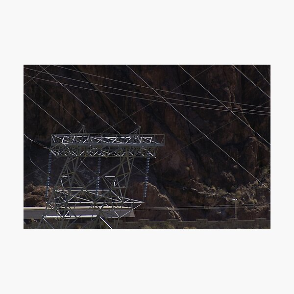 Hoover Dam Electricity Photographic Print