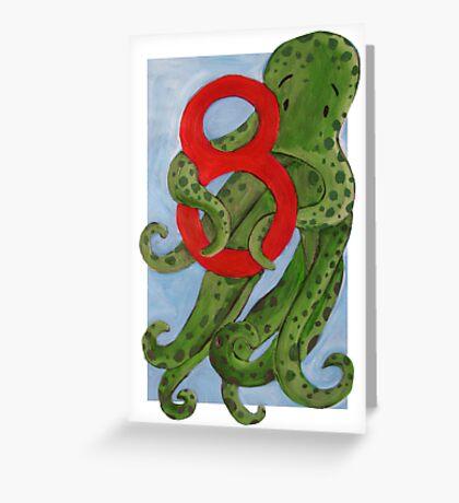 Number 8  Greeting Card