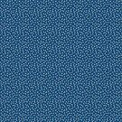 White Sprinkles on a Navy Background - repeat pattern by Hazel Fisher